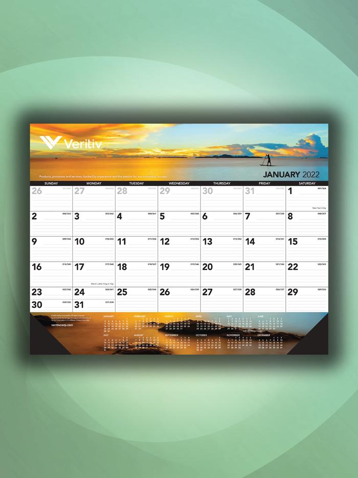 Veritiv Branded Desk Pad Calendar